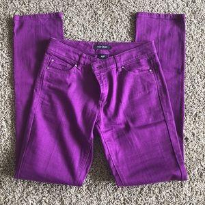 White House Black Market Purple Jeans